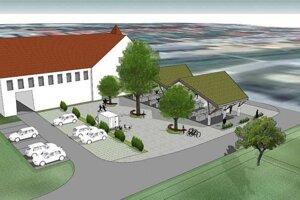 Na trhovisku bude moderná zelená strecha.