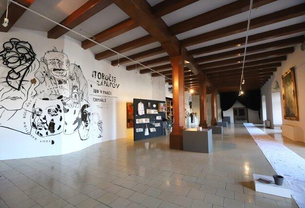 Galéria bez návštevníkov na Zvolenskom zámku.
