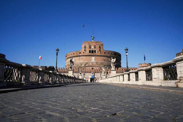 Anjelský hrad v talianskom hlavnom meste.