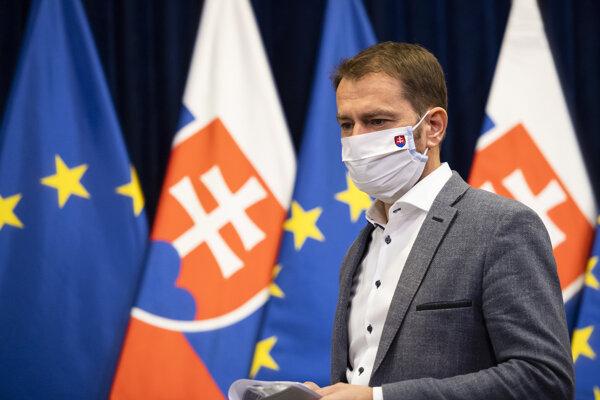 Na snímke predseda vlády SR Igor Matovič.