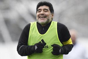 Futbalová hviezda Diego Maradona.