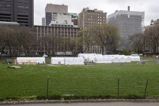 Núdzová poľná nemocnica vnewyorskom Central Parku.