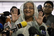 Bangladéšska premiérka Hasína Vadžídová.