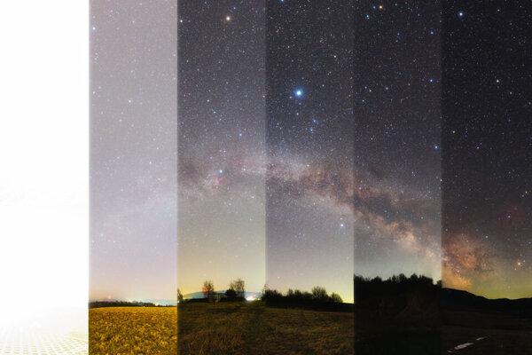 Obloha v prírode verzus obloha v meste. Astronomická snímka dňa od Košičana Tomáša Slovinského, ktorú vybrala NASA 8. apríla 2020.
