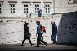 Bratislavské ulice počas koronavírusu.
