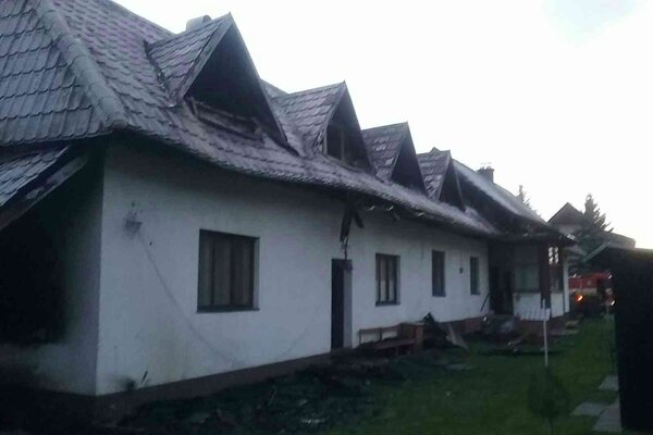 Rodinný dom v Terchovej horel v nedeľu dvakrát.