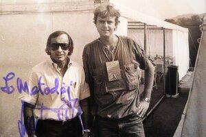 Metoděj Aleš so svojím detským idolom, majstrom sveta, Škótom Jackie Stewartom.