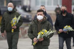 Ukrajinský prezident.
