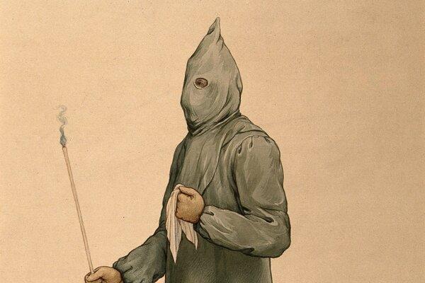 Lekári nosili počas epidémie moru ochranné oblečenie.