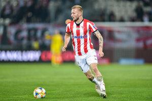 Michal Sipľak v drese Cracovie Krakov, ktorý si oblieka tretiu sezónu.