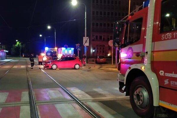 Nehoda na Zimnej ulici.