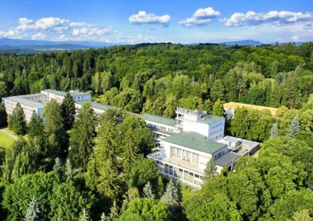 Kúpeľný hotel Palace na Sliači, ktorý sa stal od 1. mája karanténnym centrom pre repatriantov.
