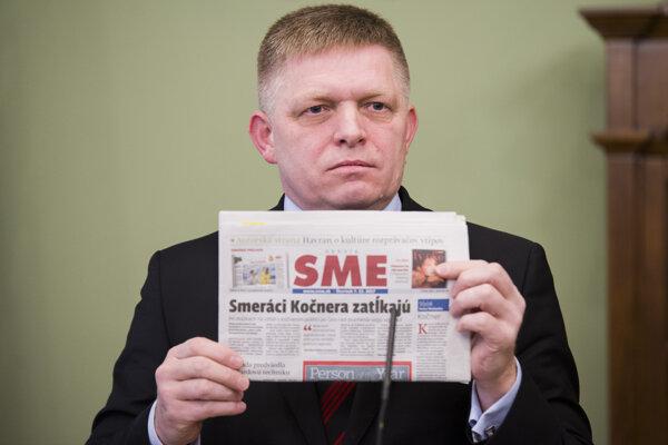 Robert Fico je s denníkom SME pravidelne nespokojný.