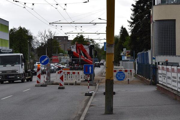 Budovateľská ulica v Prešove a jej rekonštrukcia.