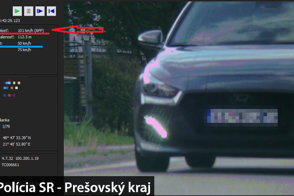 Vodiča auta značky Hyundai zamerala polícia v Sečovskej Polianke.