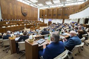 Parlament počas prejavu ombudsmanky Márie Patakyovej.