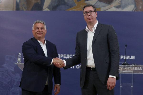 Orbán a Vučič.