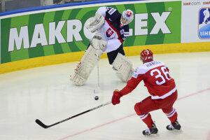 Ján Laco na MS v hokeji 2014.