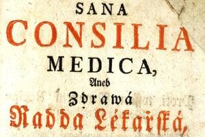 Kniha Zdravá rada lékařská, ktorá vyšla v slovakizovanej češtine v roku 1771.