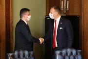 Primátor Meričko a šéf parlamentu Kollár.