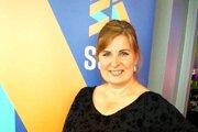 Jana Ridegová pri preberaní ocenenia Scottish Social Services Awards, ktoré sa považuje za Oscara vsociálnej oblasti.