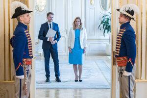 Prezidentka Zuzana Čaputová poverila zostavením vlády Igora Matoviča začiatkom marca 2020.