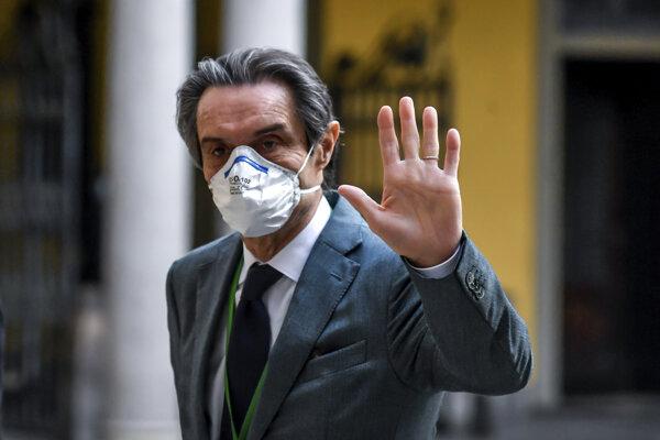 Guvernér Lombardska Attilio Fontana.