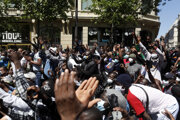 Protest za práva nelegálnych migrantov.