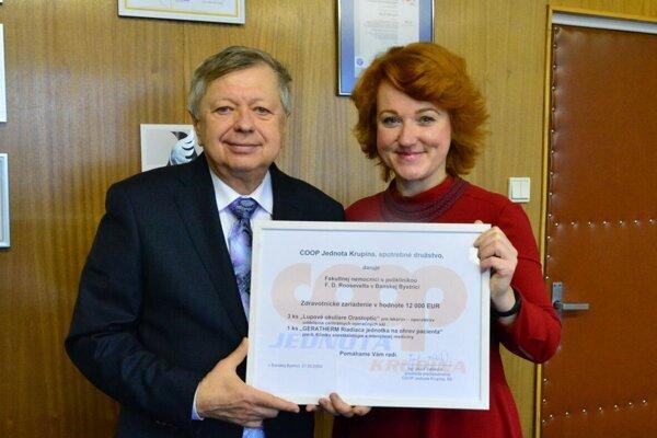 Jozef Vahančík  a Miriam Lapuníková.