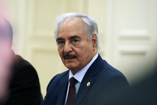 Veliteľ Líbyjskej národnej armády Chalífa Haftar.