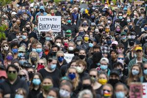 Protest proti policajnej brutalite v Portlande.