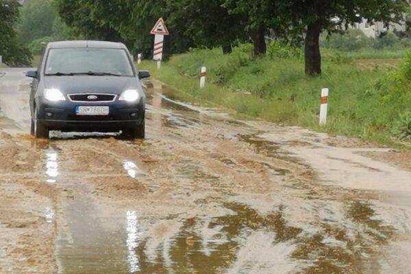 Bahno na ceste za Spišskými Vlachmi.