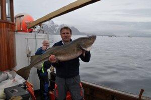Treska v rukách Jána Šveca na majstrovstvách sveta v love tresky