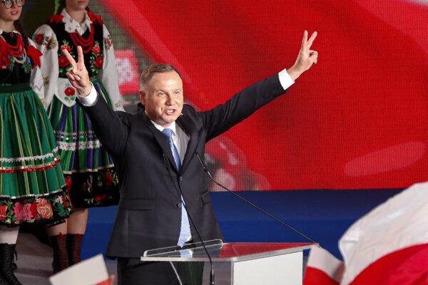 Úradujúci poľský prezident Andrzej Duda.