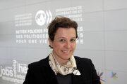 Ingrid Brocková, štátna tajomníčka Ministerstva zahraničných vecí a európskych záležitostí Slovenskej republiky pre ekonomickú diplomaciu.