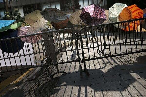 Protest Dáždnikového hnutia v roku 2014.