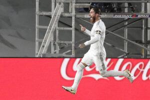 Sergio Ramos sa raduje z gólu.