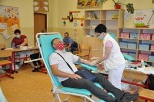 Darovanie krvi v Istebnom.
