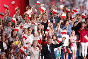 Prezident Andrzej Duda s manželkou.