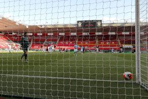 Momentka zo zápasu Southampton - Manchester City.