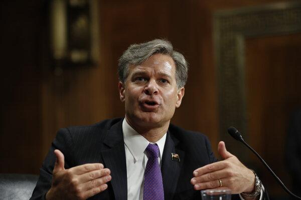 Christopher Wray, riaditeľ amerického Federálneho úradu pre vyšetrovanie (FBI).