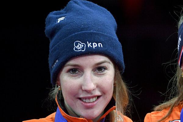 Na archívnej snímke z 26. januára 2020 holandská rýchlokorčuliarka na krátkej dráhe Lara van Ruijvenová.