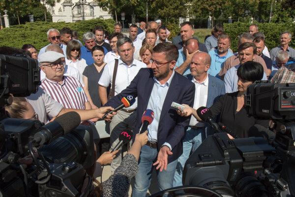 Predseda SPPK Emil Macho počas tlačového brífingu v Bratislave 15. júla 2020.