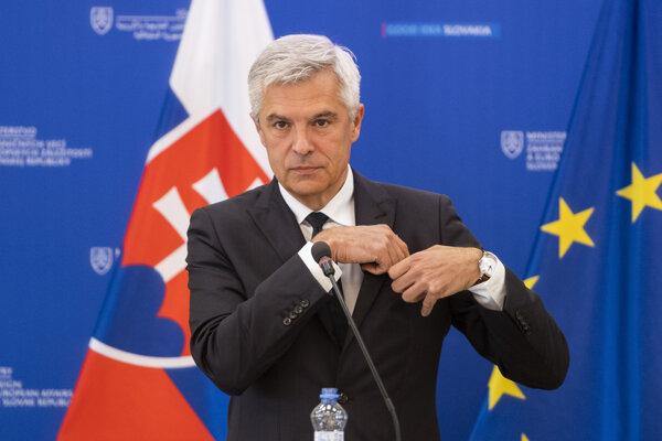 Na snímke minister zahraničných vecí a európskych záležitostí Ivan Korčok.