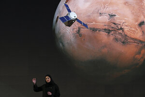 Prezentácia misie sondy Amal v Dubaji.
