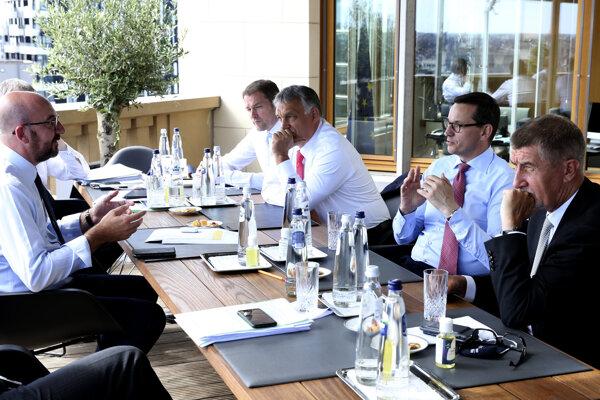 Rokovanie Visegrádskej štvorky so šéfom Európskej rady Charlesom Michelom.