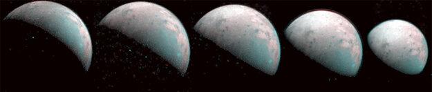Zábery z decembra 2019 ukazujú severný pól mesiaca Ganymedes. Vedci zistili, že molekuly ľadu na oboch póloch mesiaca majú odlišné usporiadanie než ľad na mesačnom rovníku či na Zemi.