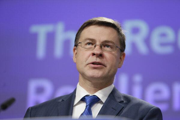 Výkonný podpredseda eurokomisie Valdis Dombrovskis.