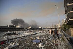 Bejrút po výbuchu.