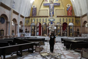 Výbuch zničil aj kresťanský kostol v Bejrúte.